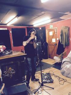 Trev from Weazeldust showing the way with the harmonica...or is that a mouth organ?