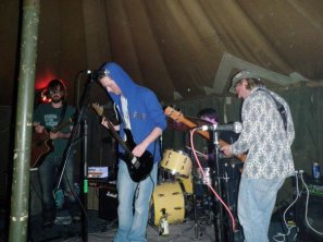 We played in a Tent for the LETS crew
